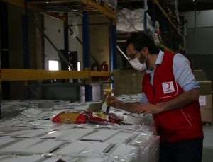 Türk Kızılaydan Kuzey Makedonya'daki ihtiyaç sahiplerine ramazan yardımı