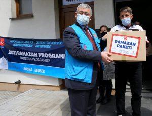 Türkiye Diyanet Vakfı Bosna Hersek'te ihtiyaç sahibi ailelere gıda yardımı yaptı
