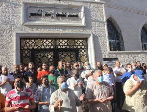 Ürdün'de, Doğu Kudüs'te İsrail polisinin saldırılarına maruz kalan Filistinlilere destek gösterisi