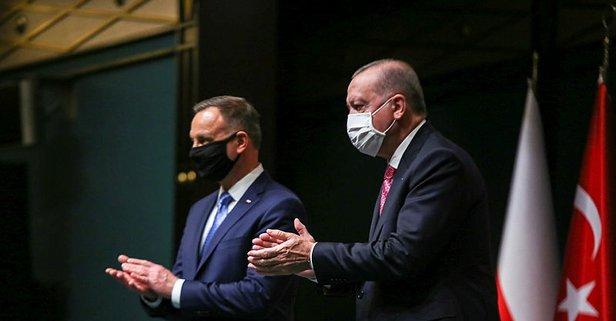 Cumhurbaşkanı Erdoğan, Polonya Cumhurbaşkanı Duda onuruna yemek verdi