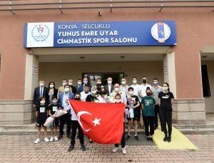 Avrupa Trampolin Cimnastik Şampiyonası'nda gümüş madalya kazanan Elif Çolak, Konya'ya geldi:
