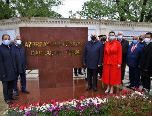 """Azerbaycan'ın Guba kentinde """"Türkiye-Azerbaycan Kardeşlik Parkı"""" açıldı"""