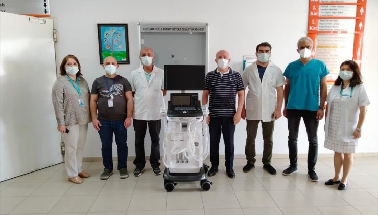 Bergama Necla Mithat Öztüre Hastanesine ileri düzey ultrasonografi cihazı bağışı
