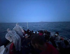 Bodrum açıklarında 27 düzensiz göçmen kurtarıldı