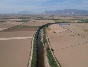 Büyük Menderes Nehri'nin Aydın kısmındaki bazı bölümlerinde sular çekildi