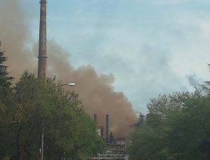 ERDEMİR 2. Yüksek Fırını'nda teknik arıza sonucu toz emisyonu çıkışı yaşandı