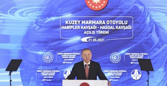 Cumhurbaşkanı Erdoğan, Kuzey Marmara Otoyolu Habipler Kavşağı-Hasdal Kavşağı Açılış Töreni'nde konuştu: