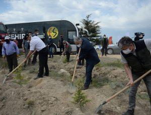 """Eskişehirspor'un """"Bir milyon fidan kampanyası""""nda ilk hatıra ormanı oluşturuldu"""
