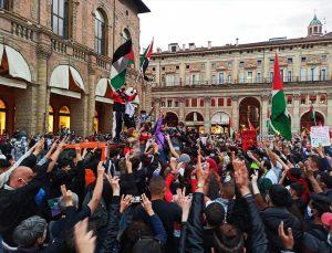 İtalya'da Orta Doğu'da ateşkese destek, İsrail'e boykot çağrısı mitingi