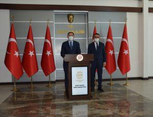 Kamu Başdenetçisi Şeref Malkoç, Siirt Valisi Osman Hacıbektaşoğlu'nu ziyaret etti