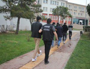 Kocaeli'de kamyonette 139 kilo 350 gram eroin ele geçirilmesine ilişkin gözaltına alınan 4 şüpheli adliyede