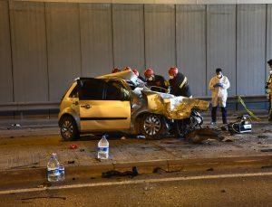 Konya'da tırla çarpışan otomobildeki baba öldü, eşi ve 3 çocuğu yaralandı