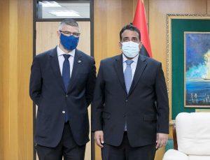 Libya Başkanlık Konseyi Başkanı Menfi, AB'nin Libya Büyükelçisi Sabadell'i kabulünde ikili ilişkileri ele aldı