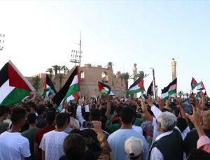 Libya'da Filistin ile dayanışma gösterisi düzenlendi