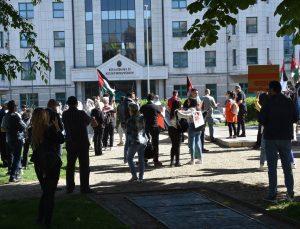 Macaristan'da Filistin'e destek gösterisi düzenlendi