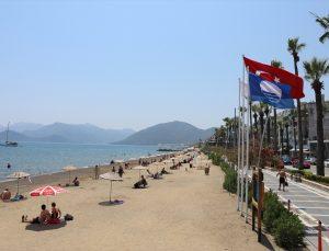 Marmaris'te mavi bayraklı plaj sayısı 24'e yükseldi