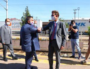 Meyer-Landrut ve Kaymakcı, Çerkezköy Tren İstasyonu'nda incelemelerde bulundu