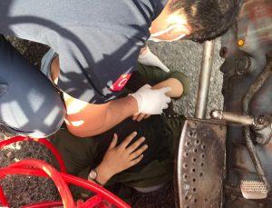 Muğla'da düştüğü traktörün altına sıkışan kişi kurtarıldı
