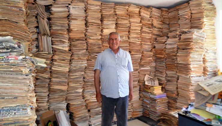 Muş'ta yaşayan Nazım Uzunboylu 53 yıldır okuduğu gazeteleri arşivliyor