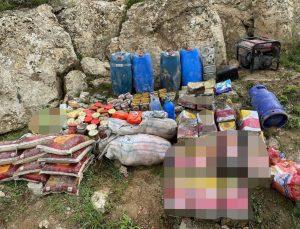 Pençe-Yıldırım operasyonunda terör örgütü PKK'ya ait silah, mühimmat ve yaşam malzemeleri ele geçirildi
