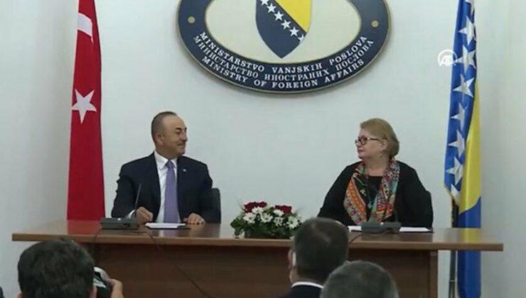 Bosna Hersek Dışişleri Bakanı Turkovic, Dışişleri Bakanı Çavuşoğlu ile ortak basın toplantısında konuştu: