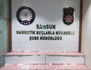 Samsun'da 7 bin 252 kapsül sentetik hap ele geçirildi