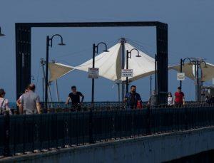 Samsun'da tam kapanma yasaklarının kalkmasıyla sahilde yoğunluk oluştu
