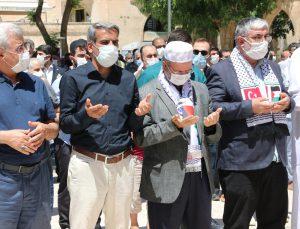 Şanlıurfa ve Adıyaman'da Filistinli şehitler için gıyabi cenaze namazı kılındı