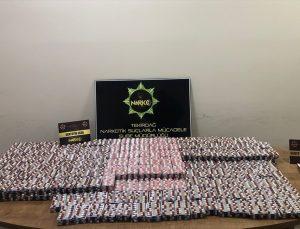Tekirdağ'da otomobilde 17 bin 500 sentetik uyuşturucu hap ele geçirildi