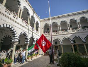 Tunuslu öğrenciler Filistin'e destek etkinliği düzenledi