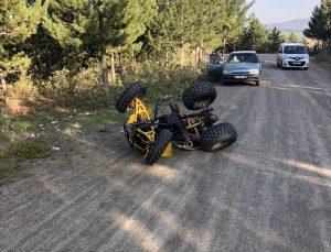 Uşak'ta devrilen ATV'nin sürücüsü yaralandı