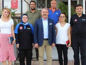 AK Partili Şahin Tin, AFAD il Müdürlüğünü ziyaret etti