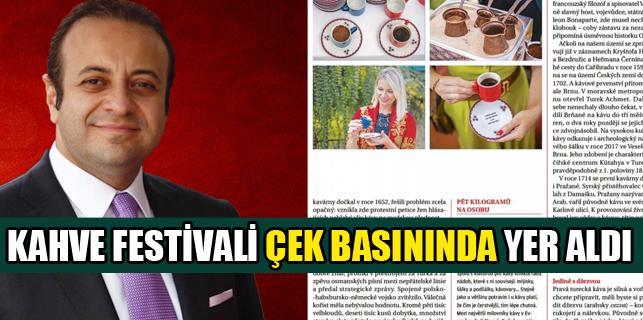 Prag Büyükelçiliğimizin düzenlediği Kahve Festivali Çek basınında yer aldı